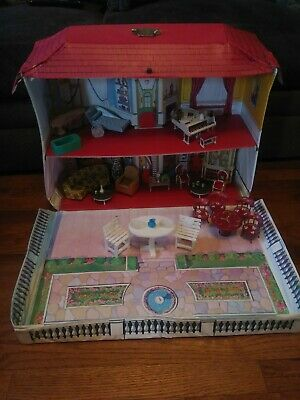 Vintage Ideal Petite Princess Vinyl Dollhouse w/ Furniture