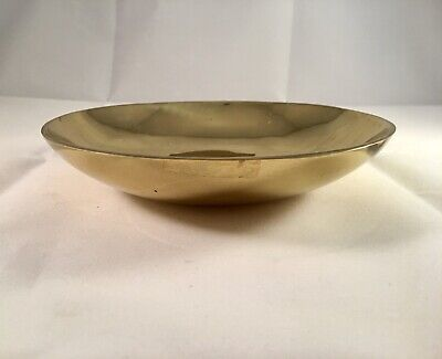 Vintage VIRGINIA METALCRAFTERS Solid  Brass Bowl, Weighs 2 Pounds 8 Ounces