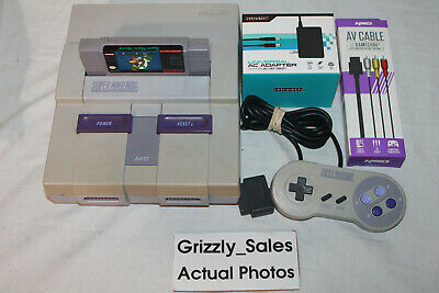 USED Super NES SNES Console + Super Mario World, Controller, Cables (NTSC)