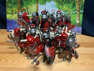 Playmobil Random Red Knights Figures with Accessories / Shield / Sword / EUC