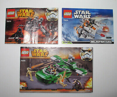 Lego Star Wars Instruction Manual Sets 75091,75074,75079