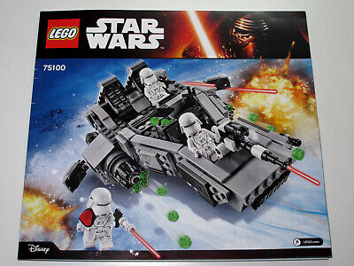 Lego Star Wars First Order Snowspeeder 75100 Instruction Manual Only