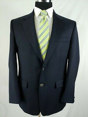 Michael Kors Men's Navy Blue 2 Silver Button Wool Blazer Sports Coat Jacket 40R