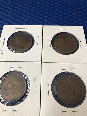 Lot Of 4 Canada Large Pennys  1914, 1916, 1919 & 1920
