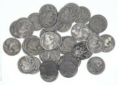 FULL DATE Mostly 1930-1938 Buffalo Nickel Roll Collection 40 Coins