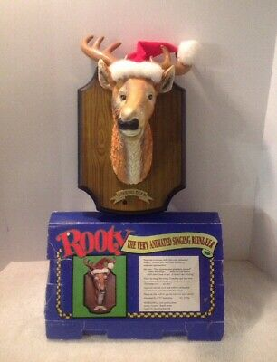 Gemmy Rooty *The Very The Animated Singing Reindeer* Grandma Got Run Over Works!