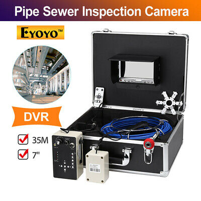 Eyoyo 7 Inch 35m DVR Pipe Drain Sewer Inspection Camera IR Remote Industrial LED
