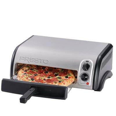 Presto Countertop Pizza Oven 12 in. Electric Stainless Steel  Automatic Shutoff