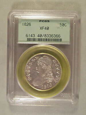 U.s. 1826 Capped Bust Half Dollar - Pcgs Xf40 - Old Holder