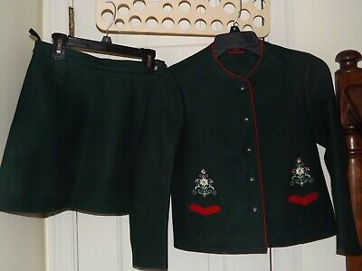 Vintage Girls Bavarian Traditional Jacket and Skirt by Munchen