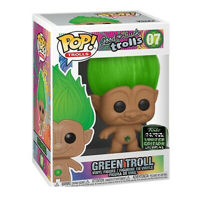 Funko Pop! Green Troll ECCC Shared Exclusive Trolls Preorder + Protector