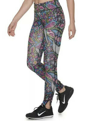 New With Tag Women's Nike Fast Printed Midrise Running Leggings Size XS