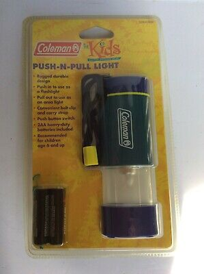 Vintage Coleman for Kids Push-N-Pull Light - Camping Outdoor Light - NIP