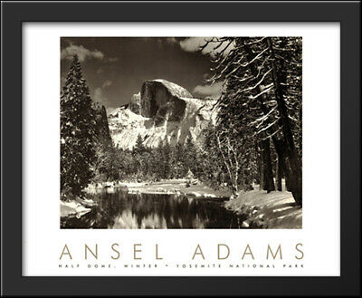 The Tetons and Snake River Ansel Adams 30x27 Gallery Quality Framed Art Print