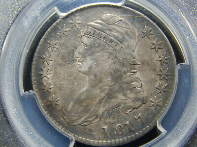 1817 50C Capped Bust Half Dollar O-106a SIngle Leaf Original! Better Variety!