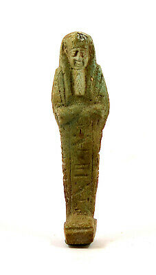 Egypt Late period 26th-30th dynasty blue-green faience shabti