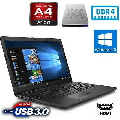 "Pc Portatile Laptop Notebook HP 255 G7 7DB74EA 15,6"" Ram4GB Ssd 256GB Windows 10"