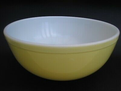 1940s Vintage Pyrex Opal Glass Color Ware Large Yellow Mixing Bowl