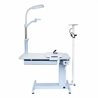 WOO 110V Optical Ophthalmic Eyeglass Test Stand Optometrist Work Combined Table