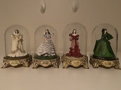 Gone With The Wind Scarlet O'Hara Figures In Domes