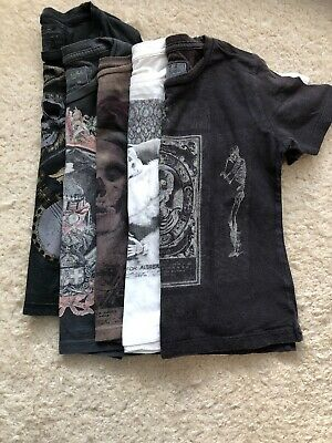 Bundle Of Boys All Saints T Shirts Age 6 (very Small Sizing)