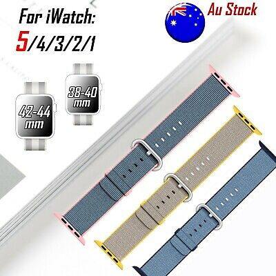 Woven Nylon Wrist Band iWatch S 5 4 3 2 1 Strap Bracelet For Apple Watch 38/42mm