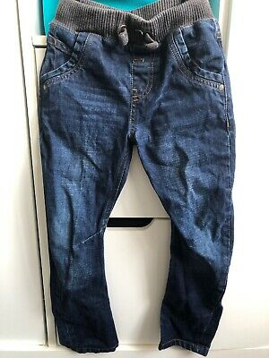 Boys Jeans Aged 5-6 Marks And Spencer Pull On Dark Denim Elasticated Waist