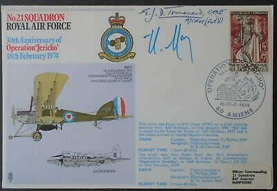 GB RAF flown cover signed by A/C EJD Townsend & Henri Moisin French Resistance