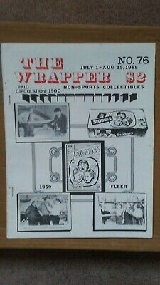 The Wrapper magazine #76 July 1988 (Fleer 3 Stooges cover) EX condition