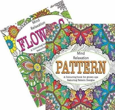 A4 Adult Colouring Books Pattern/Flowers Relaxation Anti Stress