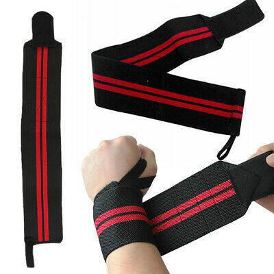 Weight Lifting Wrist Straps Bodybuilding Muscle Gym Support Wraps Training