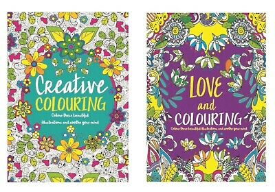 A4 Adult Colouring Books Colour Therapy Patterns  Set of 2 Anti-Stress  Books