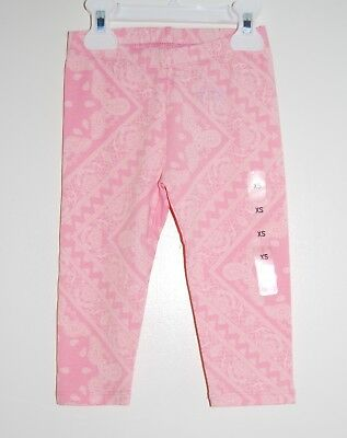 NWT The Children's Place Little Girls Peachy Pink Paisley Leggings sz XS / 4