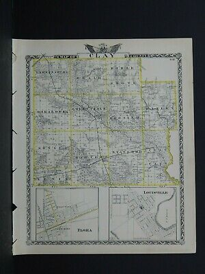 Map of Clay County & Jasper County (Reversible), Illinois L26 #105