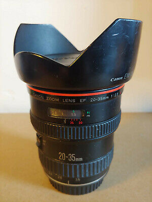 RARE BOXED Canon 20-35mm f/2.8L Wide Angle EF Fit L Lens inc. Original Lens Hood