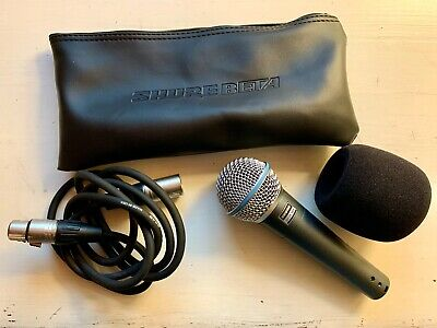 Shure Beta 58a Supercardioid Dynamic High Output Microphone -- VERY LIGHTLY USED