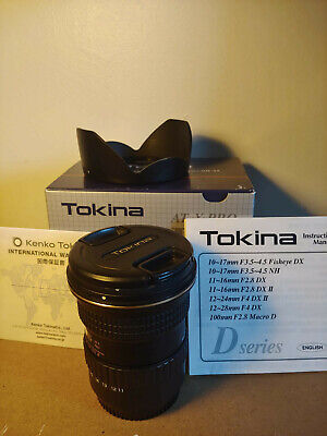 Tokina 11-16mm f/2.8 DX II Ultra Wide Angle Canon Fit Crop Sensor APSC Lens