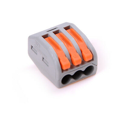 10Pcs 3 Pin Universal Compact Wire Wiring Connector Conductor Terminal Block TE