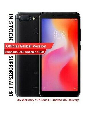 "GLOBAL VERSION Xiaomi Redmi 6 5.45"" Screen 64GB + 4GB RAM 2.0GHz CPU 4G LTE B20"