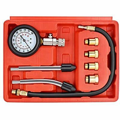 Professional Compression Test Gauge Kit - Fuel Injection Pressure Tester Set