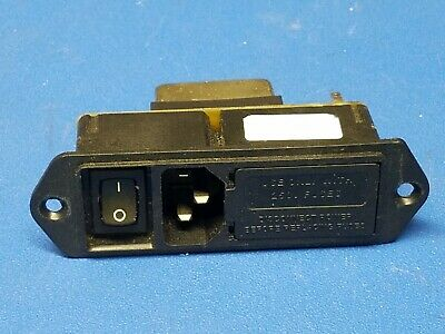 Corcom Power Entry Module, 5EHM1S, 5Amp, Medical Filter, Flange Mount, Used