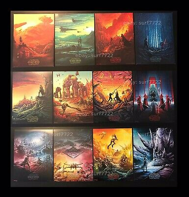 Star Wars SET 2015-2019 ALL (12) IMAX Movie Posters AMC Dan Mumford SHIPS FLAT
