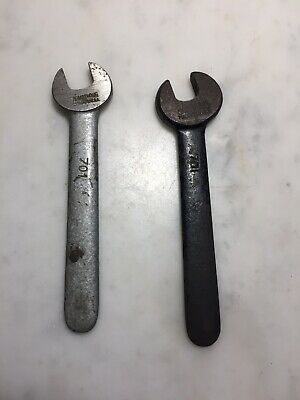 """Two Vintage 7/16"""" #701 Lathe Tool Post Wrenches Williams Armstrong"""