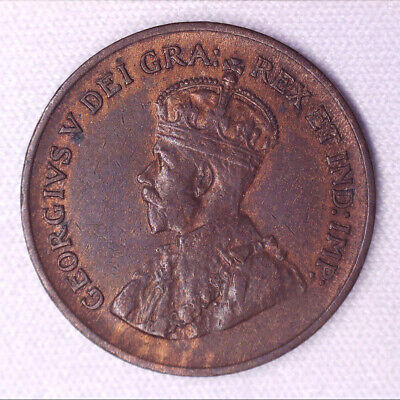 1933 CANADA Small Cent - 1 penny copper coin