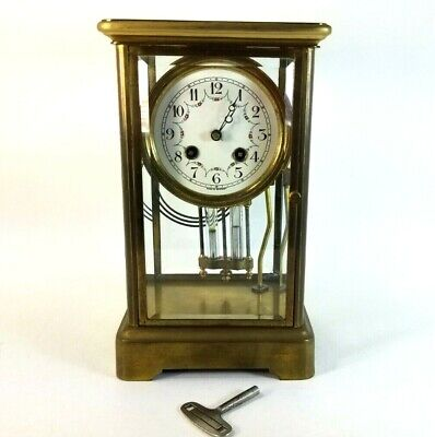 FRENCH Germany JAPY FRERES  8 DAY REGULATOR CLOCK Tiffany Honneur Brass Mantle