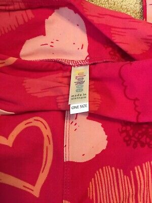 LuLaRoe OS(one size) Leggings- Valentine Hearts- NWOT. Free First Class Shipping