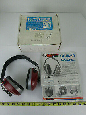 Elvex Electronic Hearing Protection COM-50 Battery Operated Ear Muffs 22 Decibel