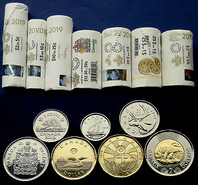 2017 Canada 150 Inspiration Winning Special Wrap Roll Set Coins $2 $1 25c 10c 5c