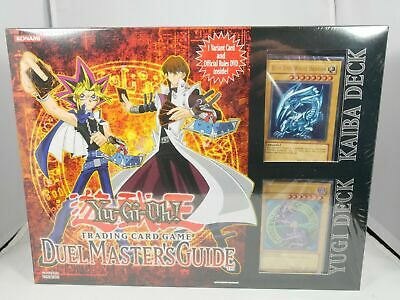 Yugioh Duel Master's Guide Yugi Deck & Kaiba Deck Box Factory Sealed New