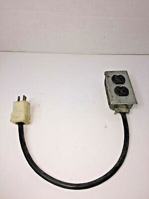 """Vintage Art Deco Retro Home Outlet Power Extension 15"""" Cord Steampunk Display"""